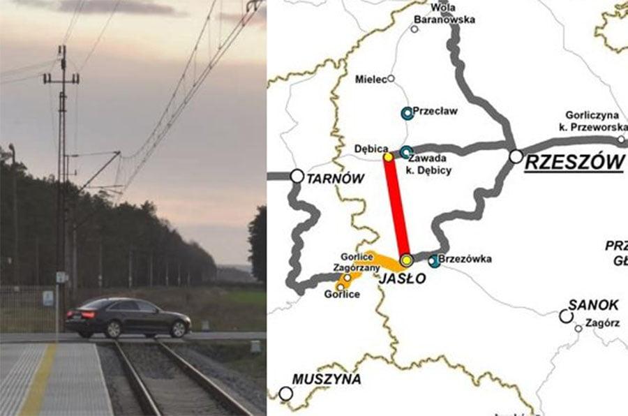 Linia kolejowa Dębica-Jasło orazprzystanek wZawadzie coraz bliżej
