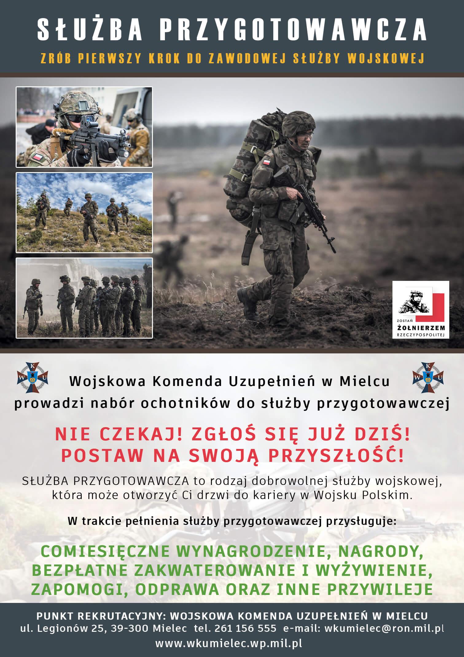 Trwa nabór dosłużby wojskowej