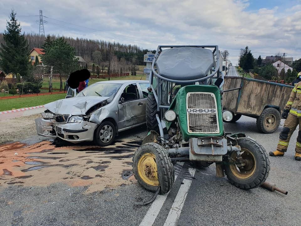 Ucierpiał traktorzysta