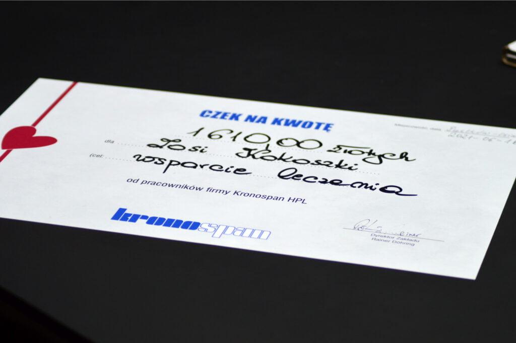 Aukcja charytatywna pracowników Kronospan dla Zosi