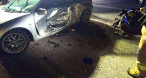 Wypadek w Machowej. Motocyklista trafił do szpitala