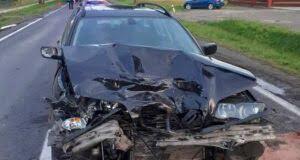 Wypadek w Strzegocicach. Jedna osoba trafiła do szpitala (fot: OSP Pilzno)